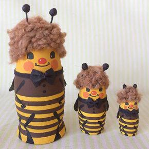 ミツバチのマトリョーシカ作りました!