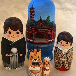 厳島神社で和装ウェディングをマトリョーシカで♪