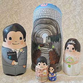 軽井沢・石の教会再現マトリョーシカ